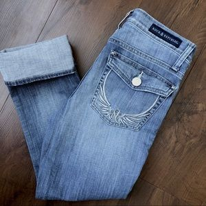 Rock & Republic Kendall Cropped Denim Jeans Sz 6